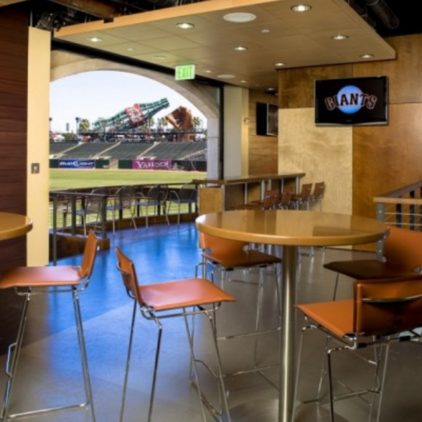 Furniture provided by J. Goldschmidt Associates and Photography by John Benson at the SF Giant's Ballpark